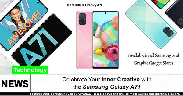Celebrate Your Inner Creative with the Samsung Galaxy A71