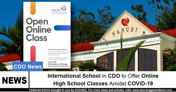 International School in CDO to Offer Online High School Classes Amidst COVID-19