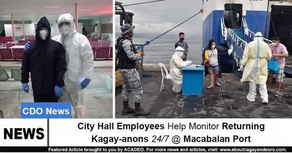 City Hall Employees Help Monitor Returning Kagay-anons 24 7 @ Macabalan Port