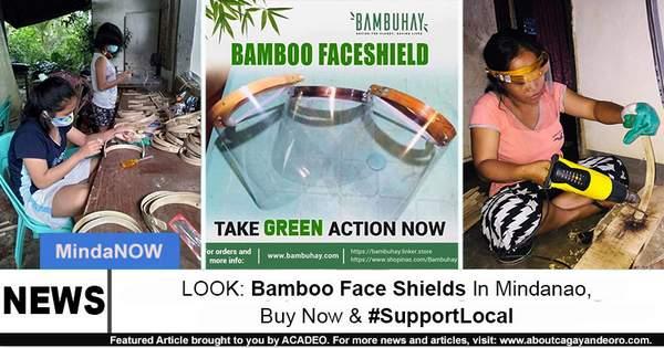 Bamboo face shield