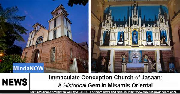 Immaculate Conception Church of Jasaan A Historical Gem in Misamis Oriental