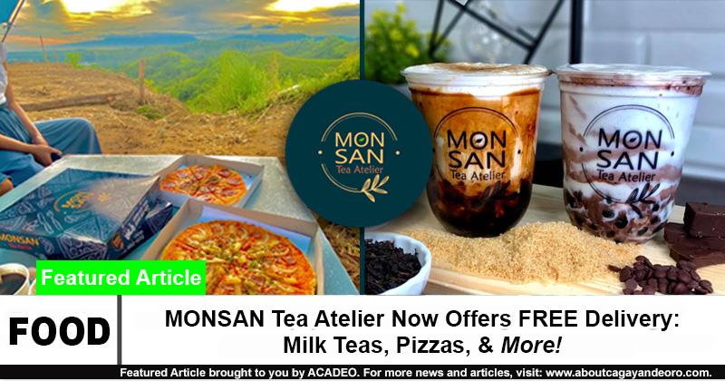 MONSAN Tea Atelier Now Offers FREE Delivery: Milk Teas, Pizzas, & More!