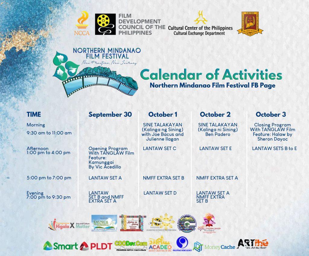 Northern Mindanao Film Festival Screening Schedule