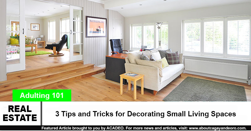 3 Tips and Tricks for Decorating Small Living Spaces