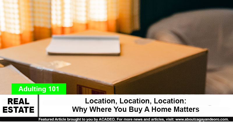 Location, Location, Location: Why Where You Buy A Home Matters - house and lot for sale