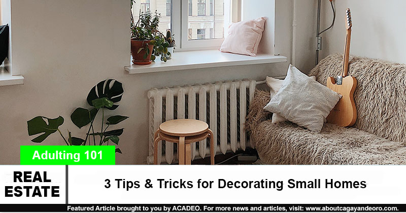 3 Tips & Tricks for Decorating Small Homes