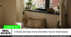 decoration tips for small spaces