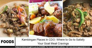 kambingan places in cdo