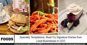 signature dishes cdo