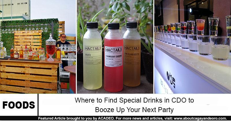 special drinks in cdo