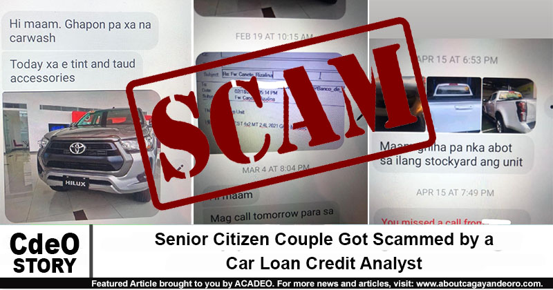 Senior Citizen Couple Got Scammed by a Car Loan Credit Analyst