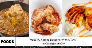 desserts with a twist in cdo