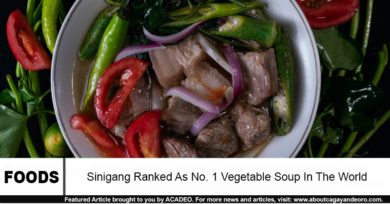 Sinigang Ranked As No. 1 Vegetable Soup In The World