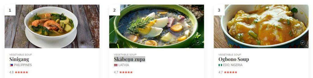 TasteAtlas ranking of vegetable soups in the world